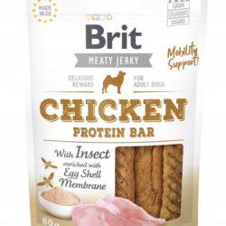 BRIT MEATY JERKY CHICKEN PROTEIN BAR 80 g