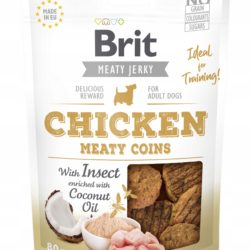 BRIT MEATY JERKY CHICKEN MEATY COINS 80 g