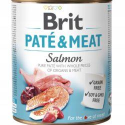 BRIT PATE & MEAT SALMON 800 g