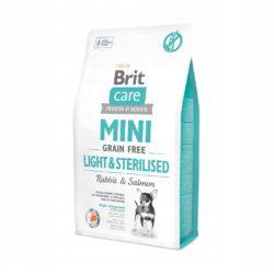BRIT CARE MINI GRAIN FREE LIGHT STERILISED 2 KG