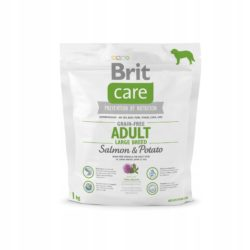 BRIT CARE GRAIN FREE ADULT LARGE BREED SALMON 1 KG