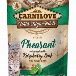CARNILOVE CAT POUCH PHEASANT RASPBERRY LEAVES 85 g