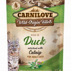 CARNILOVE CAT POUCH DUCK CATNIP 85 g KOCIMIĘTKA