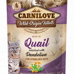 CARNILOVE CAT POUCH QUAIL DENDELION STERILIZED 85 g
