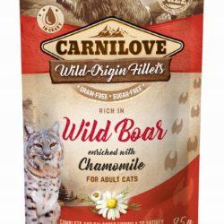 CARNILOVE CAT POUCH WILD BOAR CHAMOMILE 85 g