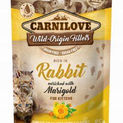 CARNILOVE CAT POUCH RABBIT MARIGOLD KITTEN 85 g