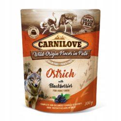 CARNILOVE DOG POUCH OSTRICH BLACKBERRIES 300 g