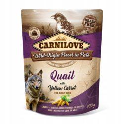 CARNILOVE DOG POUCH QUAIL YELLOW CARROT 300 g