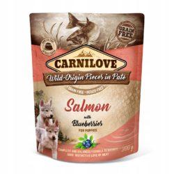 CARNILOVE DOG POUCH SALMON BLUEBERRIES PUPPY 300 g