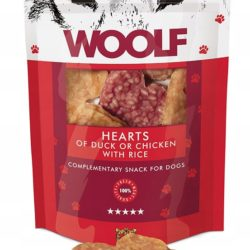 WOOLF HEARTS OF DUCK OR CHICKEN AND RICE 100 g