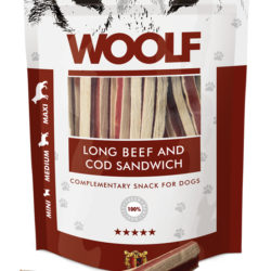 WOOLF LONG BEEF AND COD SANDWICH 100 g