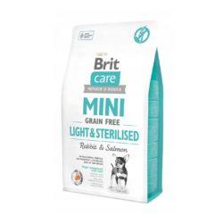 BRIT CARE MINI GRAIN FREE LIGHT STERILISED 7 KG