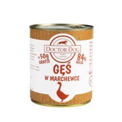 DOCTOR DOG GĘŚ W MARCHEWCE 800 g + 50 g GRATIS