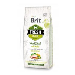 BRIT FRESH DUCK WITH MILLET ACTIVE DOGS 12 KG