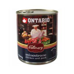 ONTARIO CULINARY MINESTRONE CHICKEN PORK 800 g